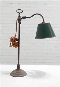 Sale 9137 - Lot 1053 - Vintage brass table lamp (h56cm)
