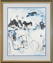 Sale 8314A - Lot 39 - Shizhong Yan (1947 - ) - The Pleasure Of Autumn, 1993 63 x 49cm