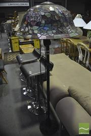 Sale 8341 - Lot 1018 - Leadlight Shade Standard Lamp