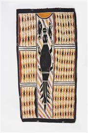 Sale 8487 - Lot 2015 - Manalay Yunupinu (1962 - ) - Bäru at Biranybirany 85 x 45cm
