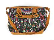 Sale 8514H - Lot 2 - Guatemalan Hand-Made Leather & Cloth Weekend Bag