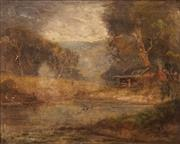 Sale 8650 - Lot 2073 - Naylor Gill (1873 - c1945) - River Crossing Scene 42 x 52cm