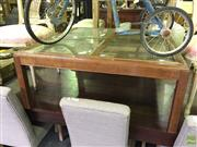 Sale 8648 - Lot 1080 - Contemporary Square Timber and Rattan Coffee Table with Glass Insert Top