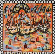 Sale 8826A - Lot 5007 - Yosi Messiah (1964 - ) - Sunset Voyage 102 x 102cm