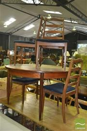 Sale 8383 - Lot 1068 - G-Plan Teak Table and Four Ladder Back Chairs