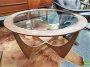 Sale 8421 - Lot 1076 - Round G-Plan Atmos Coffee Table with Glass Top