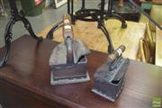 Sale 8390 - Lot 1189 - Two Vintage Irons