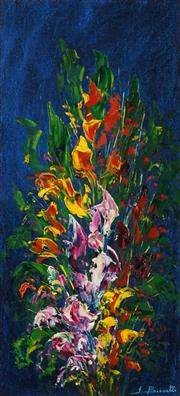 Sale 8504 - Lot 598 - John Biasetto - Flowers 49 x 22.5cm