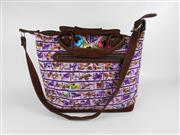 Sale 8514H - Lot 3 - Guatemalan Hand-Made Leather & Cloth Weekend Bag