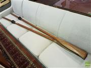 Sale 8532 - Lot 1058 - Pair of Timber Oars