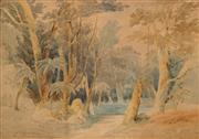 Sale 8624 - Lot 555 - Conrad Martens (1801 - 1878) - Blue Mountains, 1841 24.5 x 34.5cm