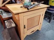 Sale 8724 - Lot 1069 - Timber Pot Cupboard