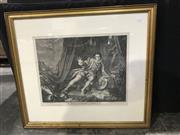 Sale 8978 - Lot 2068 - 18th Century William Hogarth Engraving, after his painting, of the actor Mr Garrick in Shakespeares Richard III, published 1746,...