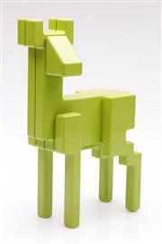 Sale 9052 - Lot 70 - Scandinavial Lime Enamelled Pixel Art Metal Figure of a Deer, Monika Mulder for Ikea (H: 24cm)