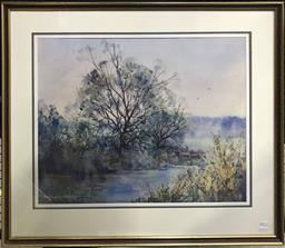 Sale 9106 - Lot 2030 - Gary Baker Stone Quarry Creek, watercolour, frame: 71 x 83 cm, signed