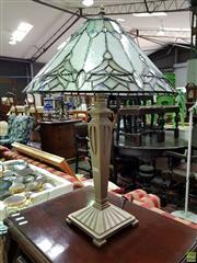 Sale 8589 - Lot 1064 - Single Leadlight Lamp
