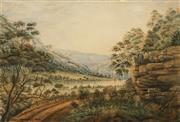 Sale 8642 - Lot 555 - John Campbell (1855 - 1924) - Hawkesbury River, 1891 31.5 x 46.5cm