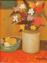 Sale 8642 - Lot 538 - Ray Crooke (1922 - 2015) - Still Life, Flowers 29 x 21.5cm