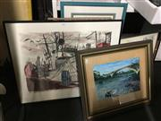 Sale 8726 - Lot 2071 - Group of (10) Assorted Artworks incl. Original Paintings and Prints & Graphics (framed/various sizes)