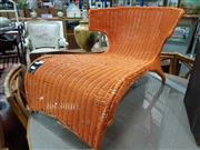 Sale 8745 - Lot 1013 - Wicker Lounge Chair