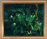 Sale 9028 - Lot 2037 - William Drew (1928 - 1983) - Carnival Evening 52 x 63.5 cm (frame: 64 x 75 x 4 cm)