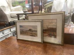Sale 9106 - Lot 2036 - Two Australiana watercolours by T Offord and Another
