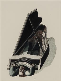 Sale 9170A - Lot 5024 - TOM SAMEK (1950 - ) - Auto Epitaph -Cage Play, 1992 15 x 11 cm (frame: 45 x 41 x 2 cm)