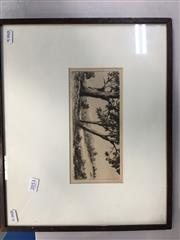 Sale 8674 - Lot 2053 - (2 works) Country Scene dry point etchings by G. Cope and Artist Unknown, each signed lower.