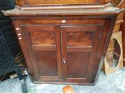 Sale 8714 - Lot 1077 - Victorian Mahogany Hanging Corner Cabinet