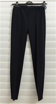 Sale 8902H - Lot 114 - A pair of navy blue Basler cigarette pants with central seam, size 10