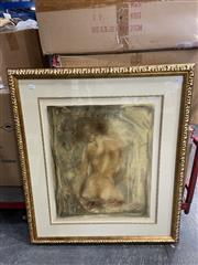 Sale 8990 - Lot 2090 - Artist Unknown Nude I decorative print, 92 x 81cm (frame)