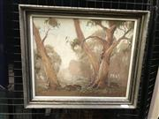 Sale 9024 - Lot 2006 - Dixon Copes, Cattle Roaming, oil on board 30 x 35cm, signed lower right
