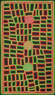 Sale 8288A - Lot 54 - Walala Tjapaltjarri (1960 - ) - Tingari 170 x 100cm