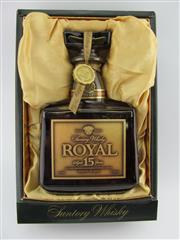 Sale 8439 - Lot 734 - 1x Suntory Whisky 15YO Royal Blended Japanese Whisky - in box (SR01)
