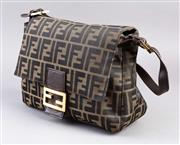 Sale 8541A - Lot 38 - A Fendi classic print canvas shoulder bag, with dust bag, W 32cm