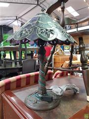 Sale 8589 - Lot 1069 - Single Leadlight Lamp