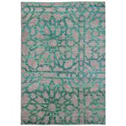 Sale 8870C - Lot 94 - India Mosaic Design Sari Silk Carpet in Sari Silk & Handspun Wool, 290x203cm