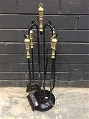 Sale 9006 - Lot 1024 - Set of Fire Tools on Stand (H:69cm)