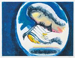 Sale 9134H - Lot 48 - Charles Blackman (1928 - 2018) - The Singer - Orpheus Suite, 1998 68 x 90 cm