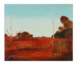 Sale 9245J - Lot 6 - Pro Hart - Landscape signed lower right