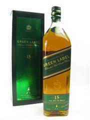 Sale 8290 - Lot 454 - 1x Johnnie Walker Green Label 15YO Blended Scotch Whisky - 1000ml in box