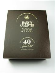 Sale 8329 - Lot 542 - 1x Hankey Bannister 40YO Blended Scotch Whisky - bottled 2007, bottle no. 23/1917, in Glencairn crystal decanter to celebrate the 25...