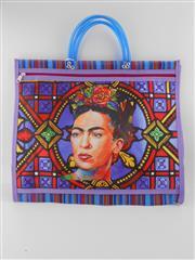 Sale 8514H - Lot 18 - Frida Kahlo Tote Bag w zip pocket & short handle