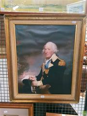 Sale 8582 - Lot 2145 - Colonial Naval Officer Canvas Print 50x40cm