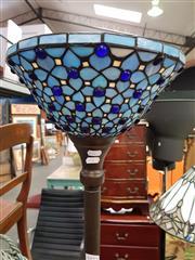 Sale 8589 - Lot 1072 - Leadlight Up Lamp