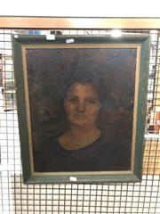 Sale 8789 - Lot 2141 - Artist Unknown - Portrait of Woman, 44.5x37cm