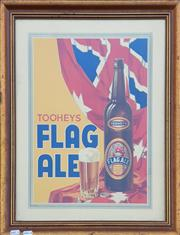 Sale 9002 - Lot 1022 - Framed Vintage Flag Ale Poster, Slight tears (h:56 x w:48cm)