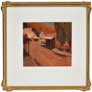 Sale 8316 - Lot 588 - Clifford Orme (XX) - Country Town Street, 1926 21 x 23.5cm