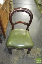 Sale 8386 - Lot 1014 - Set of 6 Victorian Cedar Balloon Back Dining Chairs