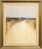 Sale 8427 - Lot 507 - Colin Parker (1941 - ) - Children Tadpoling 59.5 x 44.5cm